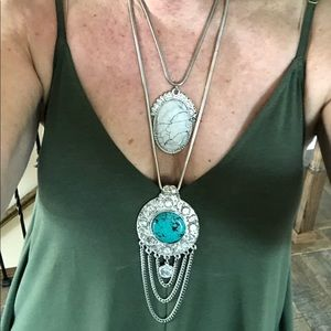 Free People Jewelry - Free People Double Pendant Necklace